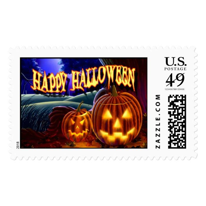 Jack-O-Lanterns Postage Stamp