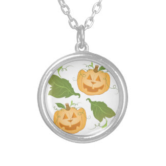 Jack O Lanterns Silver Plated Necklace
