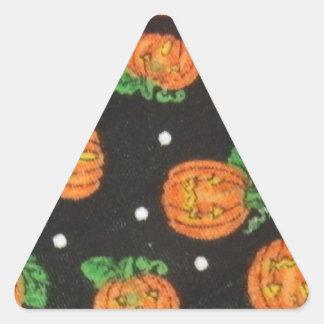 Jack O' Lanterns Triangle Sticker