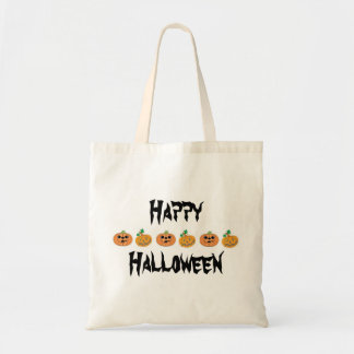 Jack-O-Lanterns Trick or Treat Halloween Candy Tote Bag