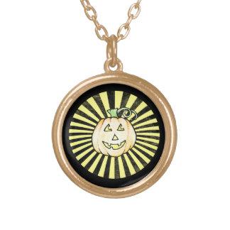Jack o latern round pendant necklace