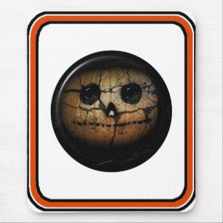 Jack-o-Linterna anaranjada espeluznante de la cala Alfombrillas De Raton