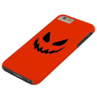 Jack-O-Linterna anaranjada y negra Funda De iPhone 6 Plus Tough