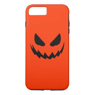 Jack-O-Linterna anaranjada y negra Funda iPhone 7 Plus