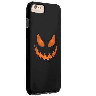 Jack-O-Linterna anaranjada y negra Halloween Funda De iPhone 6 Plus Tough