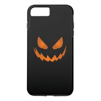 Jack-O-Linterna anaranjada y negra Halloween Funda iPhone 7 Plus
