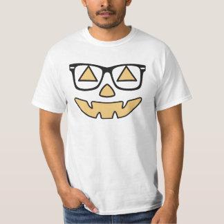 Jack-O-Linterna con la camiseta de los vidrios Playera