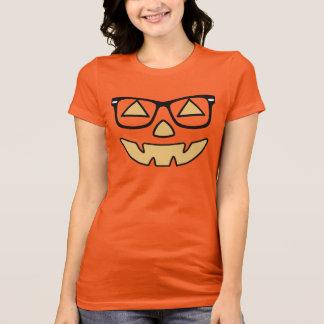 Jack-O-Linterna con los vidrios Camisas