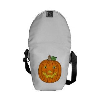 Jack-O-Linterna de Halloween Bolsas Messenger