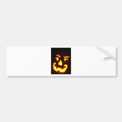 Jack-O-Linterna de Halloween Pegatina De Parachoque