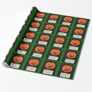 Jack-o-Linterna de Halloween Papel De Regalo