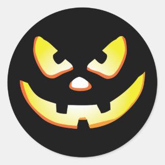 Jack-O-Linterna de Halloween Etiquetas Redondas