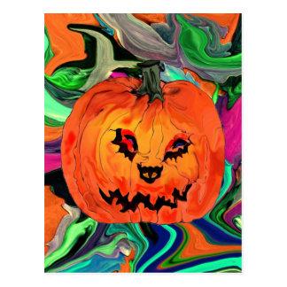 Jack-o-linterna de Halloween Postales