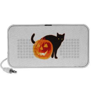 Jack-O-Linterna de Halloween y gato negro Altavoz De Viaje