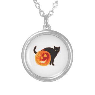 Jack-O-Linterna de Halloween y gato negro Joyerias