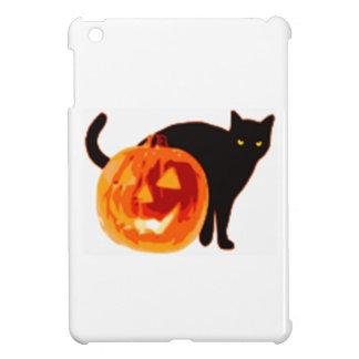 Jack-O-Linterna de Halloween y gato negro