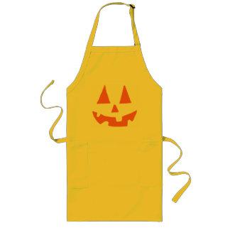 Jack-o-Linterna de la calabaza de Halloween Delantal Largo