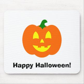Jack-o-Linterna de la calabaza de Halloween Tapetes De Ratón