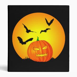 "Jack-O-Linterna de la luna de Halloween Carpeta 1"""