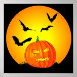 Jack-O-Linterna de la luna de Halloween Impresiones