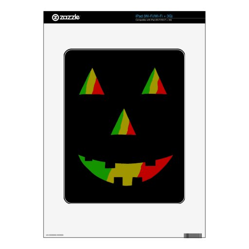 Jack-O-Linterna de Rasta Calcomanía Para El iPad