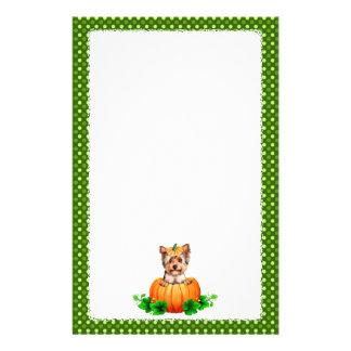 Jack-O-Linterna de Yorkshire Terrier Halloween Personalized Stationery