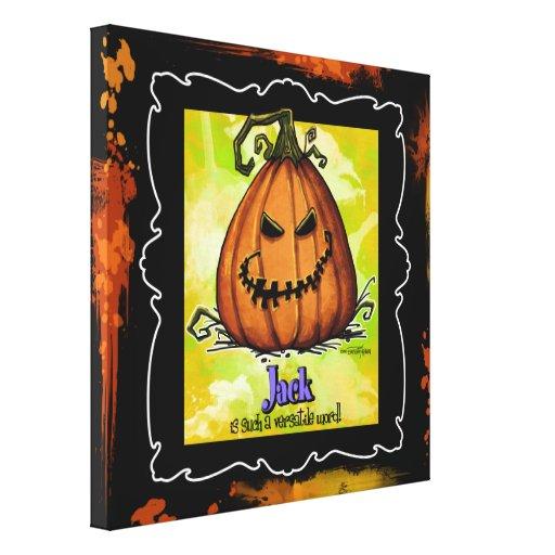 Jack-o-linterna - decoración de Halloween Impresion En Lona
