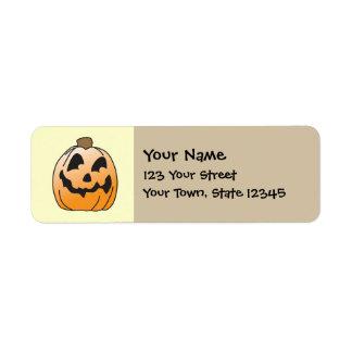 Jack-O-Linterna del feliz Halloween Etiqueta De Remitente