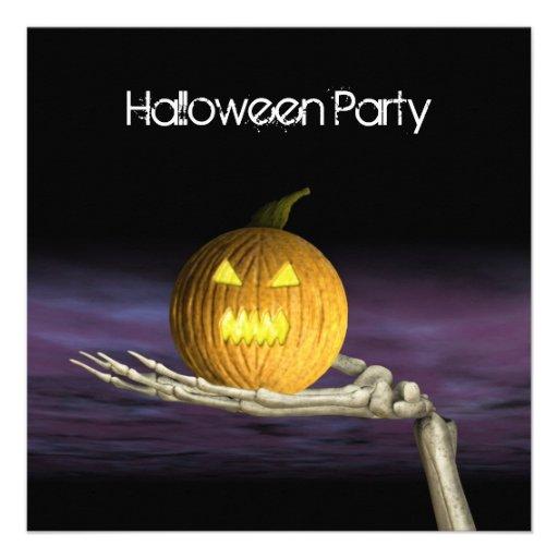 Jack-o-Linterna - invitación del fiesta de Hallowe