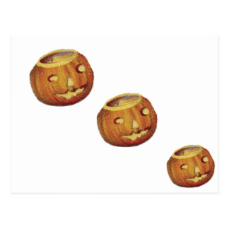 Jack-O-Linterna pasada de moda de Halloween Tarjetas Postales