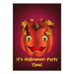 Jack-O-Linterna Serpiente-Observada Halloween Invitaciones Personalizada