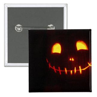 Jack-o-Linterna sonriente de Halloween Pin Cuadrada 5 Cm