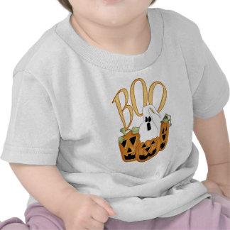 Jack-o-linterna y fantasma del abucheo camiseta