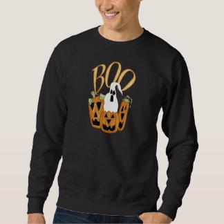 Jack-o-linterna y fantasma del abucheo suéter