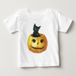 Jack-o-Linterna y gato de Halloween Tee Shirts