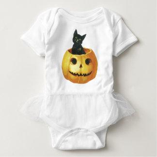 Jack-o-Linterna y gato de Halloween Tshirt