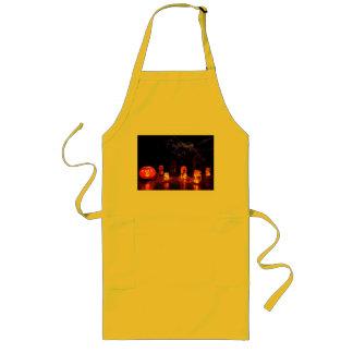 Jack-O-Linterna y velas de delantal