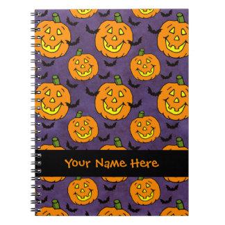 Jack-o-linternas y palos felices note book