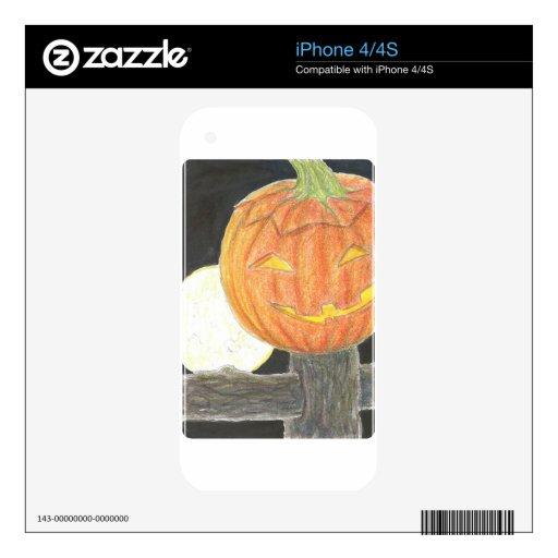 Jack-o--Luna Calcomanías Para El iPhone 4