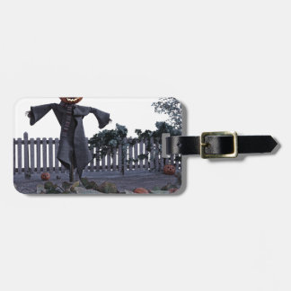 Jack O Scarecrow in a Pumpkin Patch Bag Tag