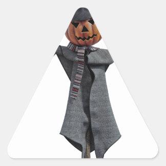 Jack O Scarecrow Triangle Sticker