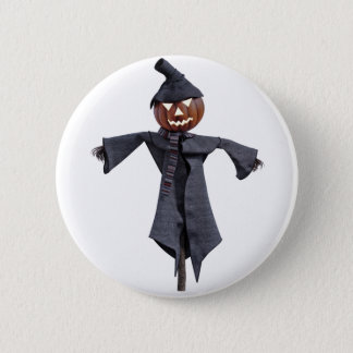Jack O Scarecrow with Bright Eyes Button
