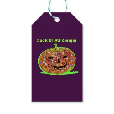 Halloween Themed Jack Of All Emojis(1) Green Gift Tags