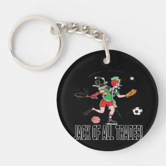 Jack Of All Trades 2 Double-Sided Round Acrylic Keychain