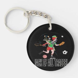 Jack Of All Trades 2 Single-Sided Round Acrylic Keychain