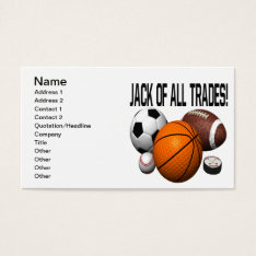 Jack Of All Trades Business Card at Zazzle
