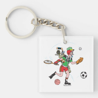 Jack Of All Trades Double-Sided Square Acrylic Keychain