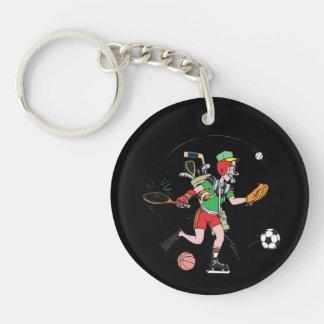 Jack Of All Trades Single-Sided Round Acrylic Keychain