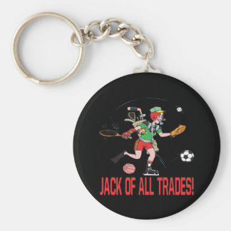 Jack Of All Trades Basic Round Button Keychain