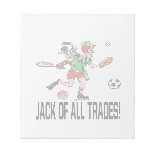 Jack Of All Trades Note Pad